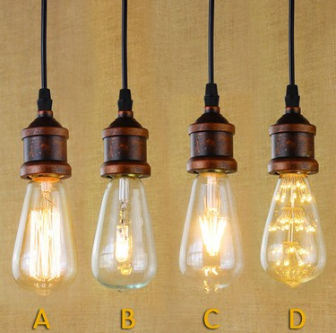 E27 American Loft Iron Art Retro Droplight Industrial Vintage Pendant Light Fixtures For Living Dining Room Bar Hanging Lamp iwhd loft style creative retro wheels droplight edison industrial vintage pendant light fixtures iron led hanging lamp lighting