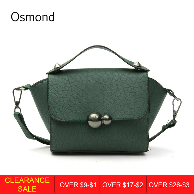 7472ca9c2a32 Aliexpress.com : Buy Osmond Fashion Trapeze Gourd lock Button Small Women  Leather Handbags Shoulder Bag Ladies Crossbody Bags Free Shipping from ...