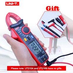 Mini abrazadera Digital medidores CA/CC voltaje de corriente UNI-T UT210 serie True RMS rango automático VFC capacitancia sin contacto multímetro