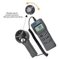 AZ8912 Anemometer Environmental Speed Testers Temperature and Humidity Tester Measures Air Velocity