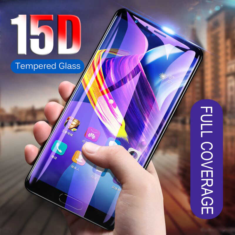 15D Screen Protector Glass on the For Huawei Honor 8 10 7 7c 8X Max 9 Tempered Glass For Honor 8 9 10 Lite Full Cover Glass Film
