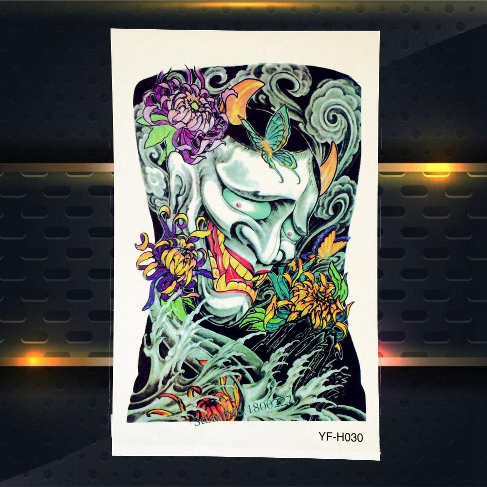 ᐂ1 Unid Desechables Tatuaje Temporal Monster Fantasma Flor Brazo