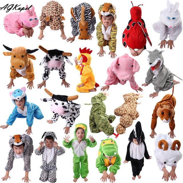 24 Estilos Animal Disfraces Cosplay Juegos de Disfraces de Halloween Para Los Niños de Los Niños Ropa Niños Niñas ropa de Navidad 2T-9Y
