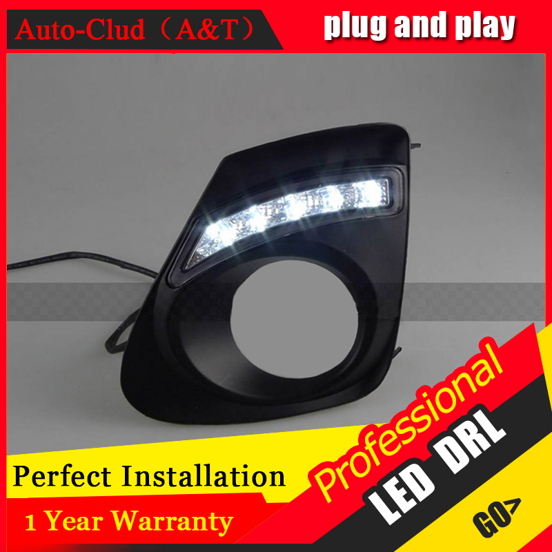 Auto Clud car styling For Toyota coroll LED DRL For coroll led fog lamps daytime running light High brightness guide LED DRL C s special car trunk mats for toyota all models corolla camry rav4 auris prius yalis avensis 2014 accessories car styling auto