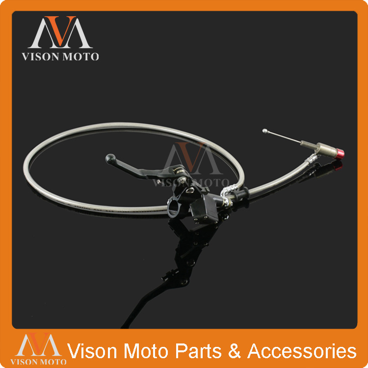 1200mm Black Hydraulic Clutch Lever Master Cylinder For 125-250cc Vertical Engine Offroad Motorcycle Pit Dirt Bike