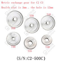 free shipping 6 pcs mini lathe gears , Plastic Cutting Machine gears , Miniature lathe gear accessories C2 C3 exchange gear