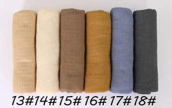 Ladies Solid Crinkle soft hijab scarf muslim Pleat scarves cotton wraps shawls stretchy headband long scarves 180*90cm 18 color