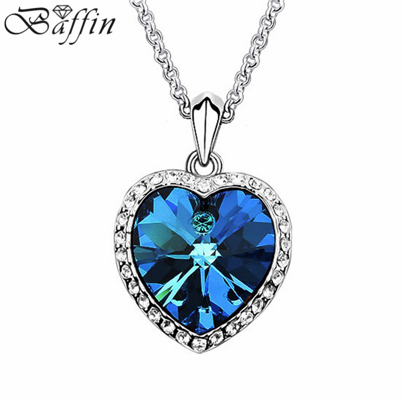 Baffin Crystal Heart Pendant Necklace Made With SWAROVSKI ELEMENTS For Women Mother's Day Gift baffin crystals pave jewelry sets round pendant necklace maxi rings luxury accessories for women made with swarovski elements