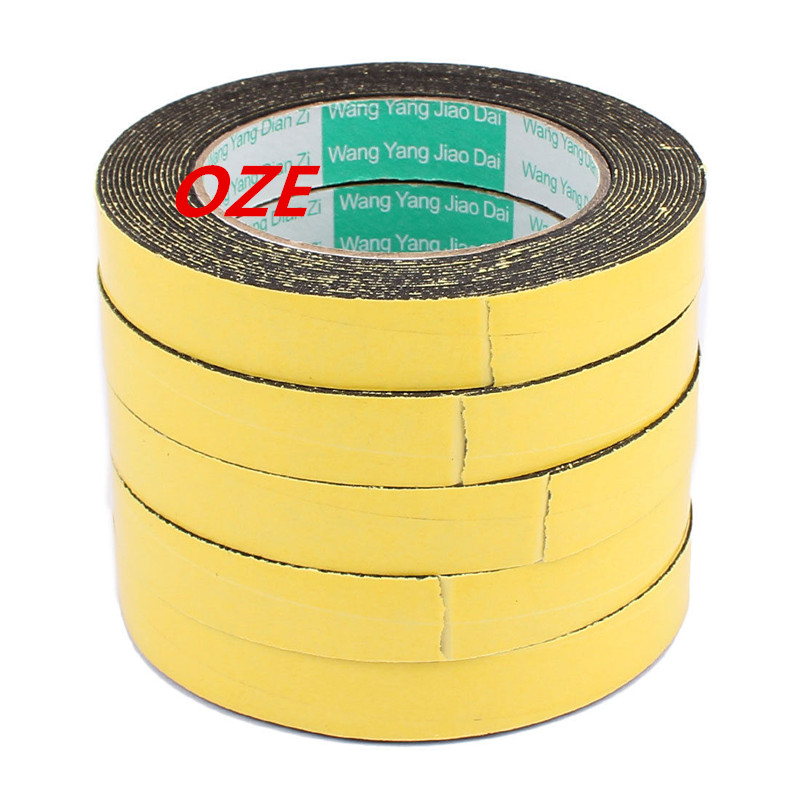 5Pcs 18mm x 1mm Single Sided Self Adhesive Shockproof Sponge Foam Tape 5M Length 2pcs 2 5x 1cm single sided self adhesive shockproof sponge foam tape 2m length