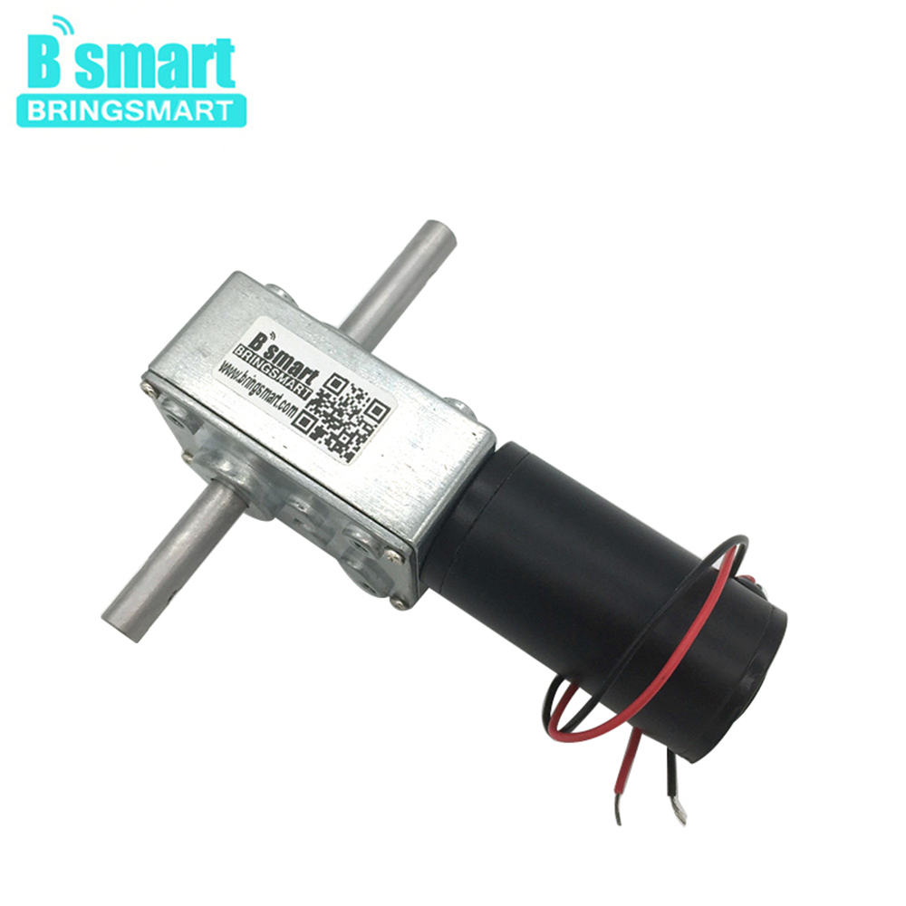 Bringsmart 5840 31zy 12v DC Worm Geared Motor Dual Shaft 3v 9v Reversed Reducer High Torque 24v DC Motor Self lock mini tools