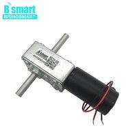 Bringsmart 5840 31zy 12v DC Worm Geared Motor Dual Shaft 3v 9v Reversed Reducer High Torque 24v DC Motor Self lock mini tools