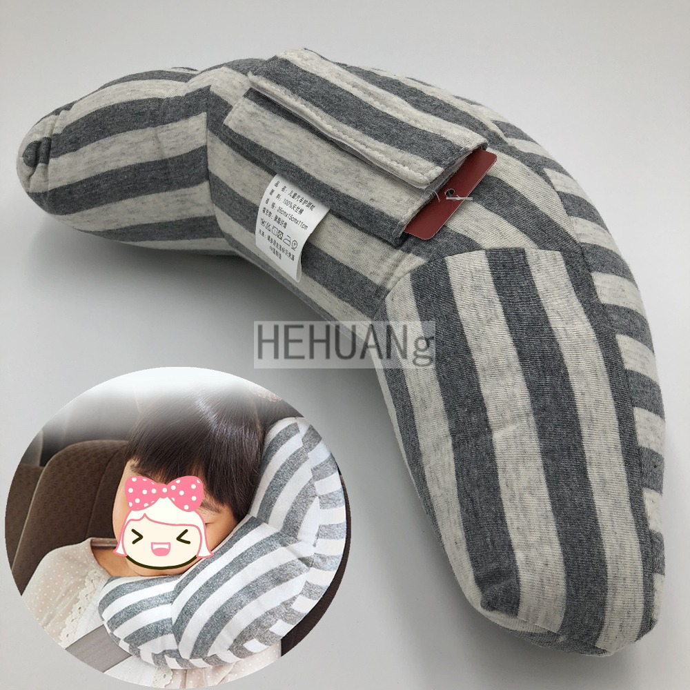 Child Car Seat Headrest Sleeping Head Support Children Nap Shoulder Belt Pad Neck Cover For Kids Travel Interior Accessories.
