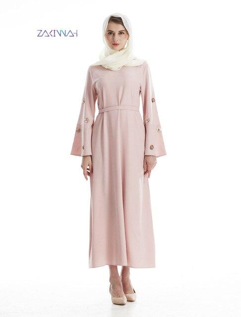 Musulmanes Perles Femmes Dubaï Indien Indienne Rose Robe cnWq81pUHx