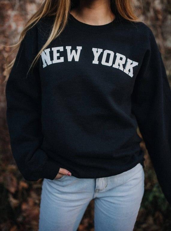 Sugarbaby New York Sweatshirt East Coast Hoodie Fashion Women New York Jumper High Quality Casual Tops Unisex New York Hoodie