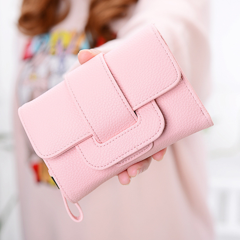 New Design Leather Wallets Women Multifunction Purses Woman Wallet Short Hasp Female Purse Card Holder Clutch Feminina Carteira  cossroll flower embossing women wallets and purses trifold hasp wallet female long design clutch women s purse monedero mujer
