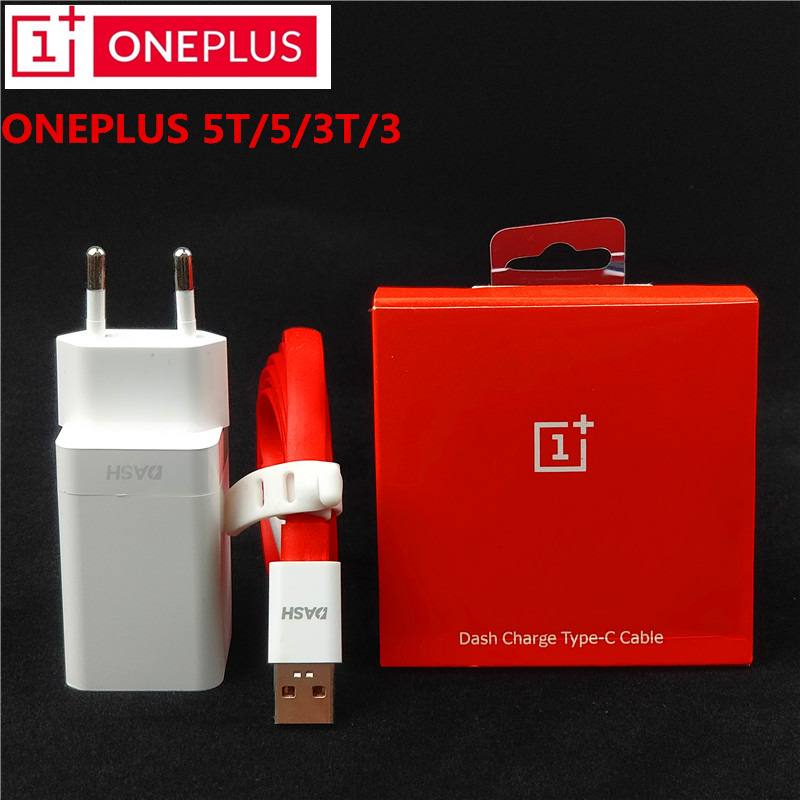 Original EU ONEPLUS 3t Dash Charger One Plus 6/5t/5/3 Dash Charge Adapter 100cm/150cm Red noodles USB 3.1 Type C Dash Cable
