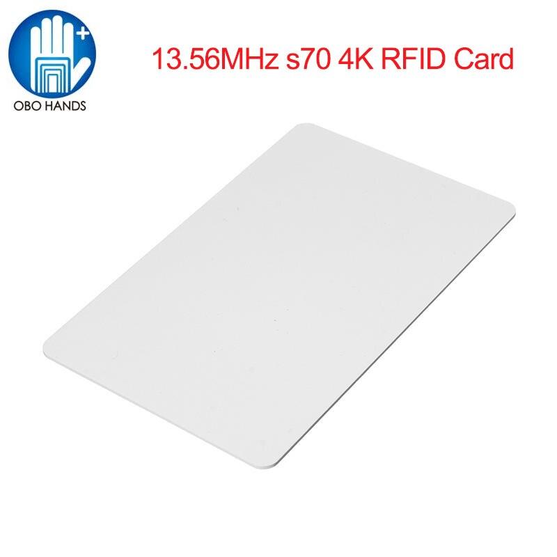OBO HANDS MF Classic® 4K RFID Plastic PVC Card NFC Contactless Card 13.56MHz ISO 14443A rfid Card (Packge of 10pcs) бесплатная доставка интегральные схемы типов cs5124xd8 ic reg ctrlr flybk iso pwm 8 soic 5124 cs5124 3 шт