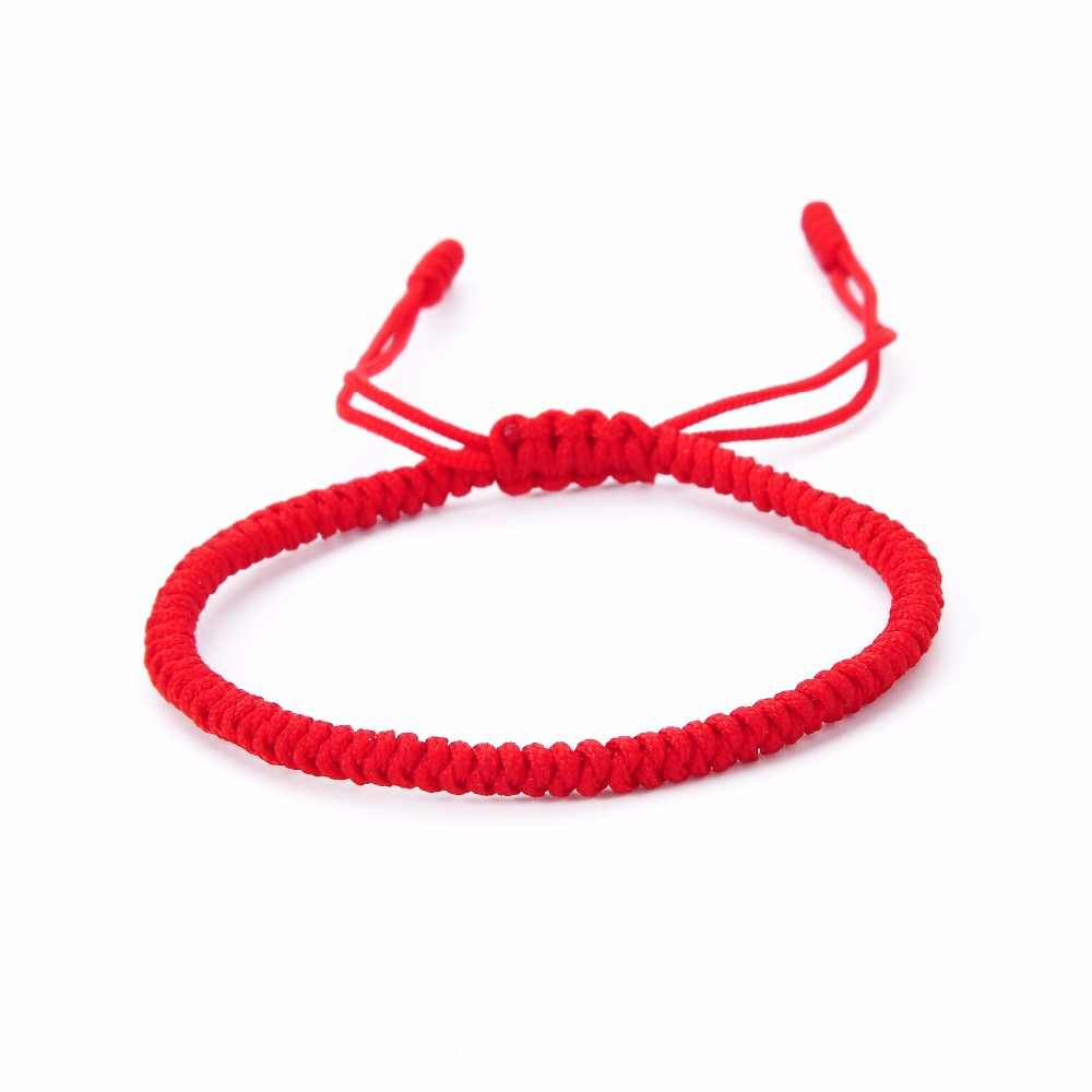 69138ea37e0aa Fashion Jewelry Women Men Handmade Knots Rope Thread Budda Bracelet Buddhist  Love Lucky Charm Tibetan Bracelets