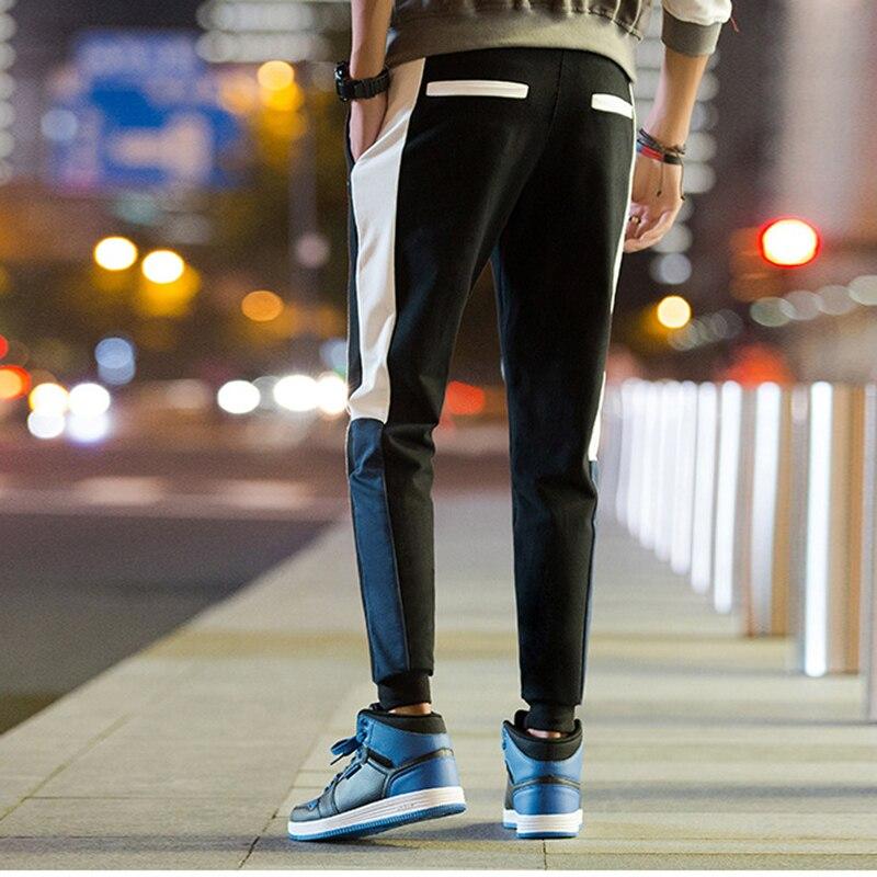 Forro Fleece Hop Polar Hip Hombres Cintura Pantalón Calca Sudor Moletom blue black De Chándal Con Masculino Black Japonés Para Pantalones Elástico Algodón 2018 pqWB64ZI4
