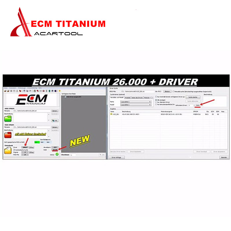 Prix pour 2017 professionnel ecm titanium 1.61 avec 26000 + 18384 + pilote pour kess v2 et ktag