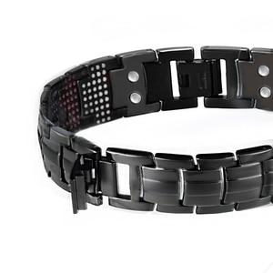 Image 3 - LITTLE FROG 591PCS Germanium Black Titanium Bracelet&Bangle Health Magnetic Bracelet  Mens Jewelry  10145