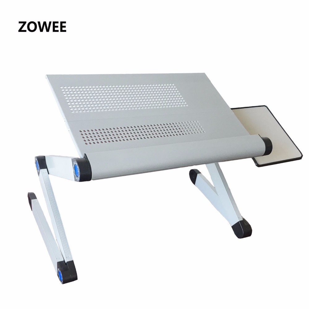 Adjustable Portable Laptop Table Stand Lap Sofa Bed Tray Computer Notebook Desk bed table with Mouse Table ZW-CD06(China)
