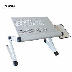 قابل للتعديل لاب توب محمول الجدول حامل اللفة أريكة سرير علبة الكمبيوتر المحمول مكتب طاولة السرير مع ماوس الجدول ZW-CD06