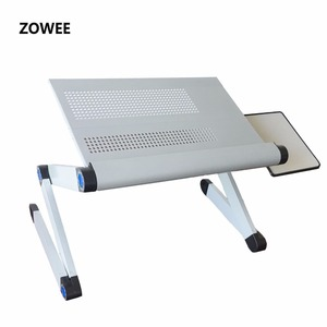 Image 1 - Adjustable Portable Laptop Table Stand Lap Sofa Bed Tray Computer Notebook Desk bed table with Mouse Table ZW CD06