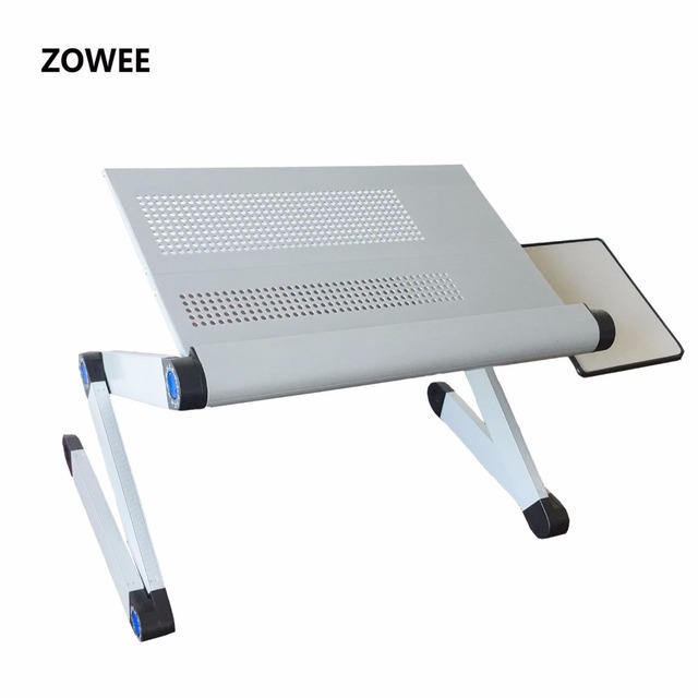Adjustable Portable Laptop Table Stand Lap Sofa Bed Tray Computer Notebook Desk Bed Table With Mouse Table Zw Cd06