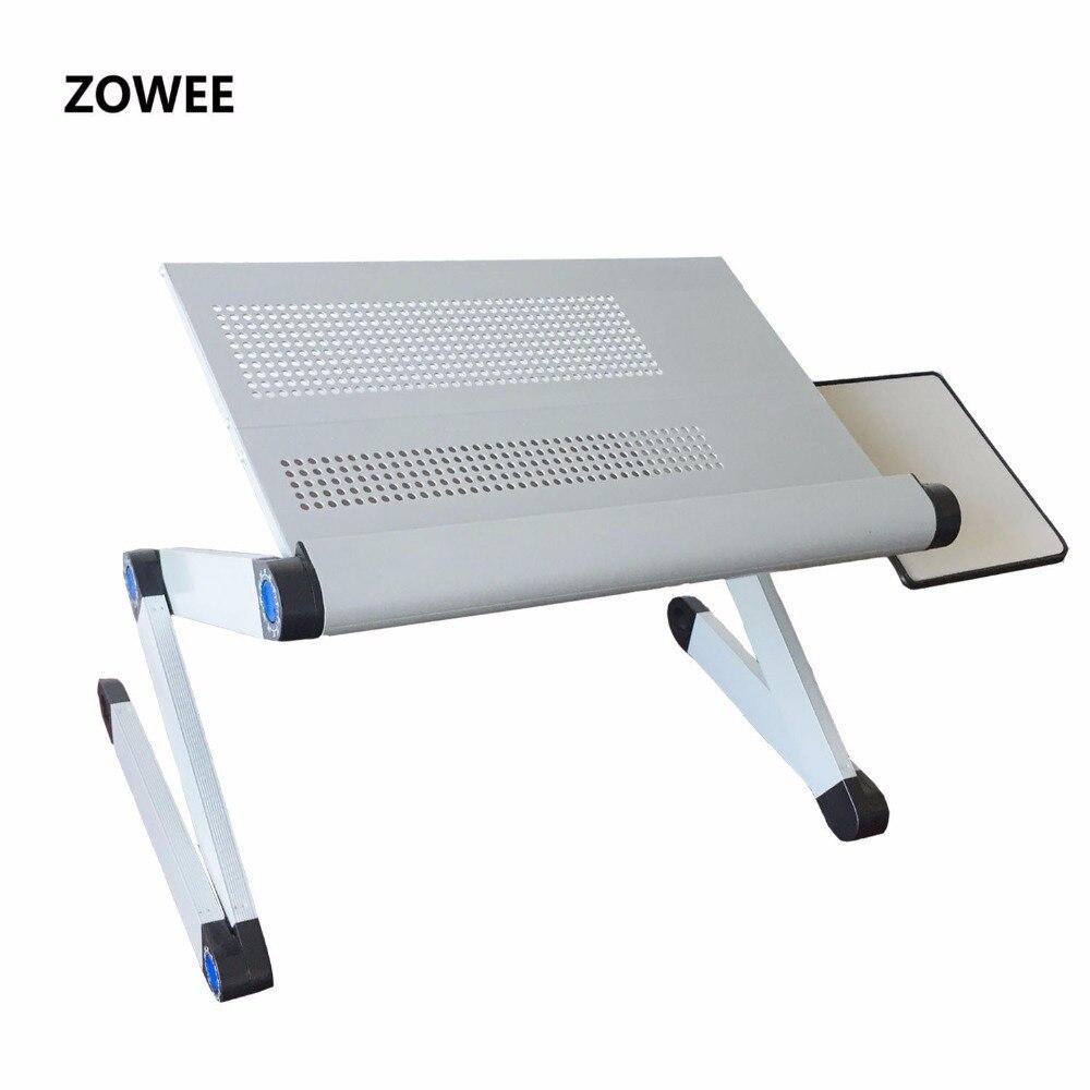 調整可能なポータブルラップラップソファベッドトレイコンピュータノートブックデスクベッドマウステーブル ZW CD06  グループ上の 家具 からの ラップトップデスク の中 1