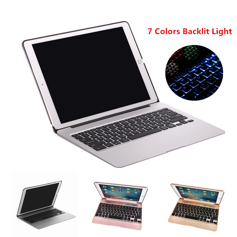 Keyboard Case for iPad Pro 12 9 2015 Aluminum Bluetooth Keyboard Tablet Case Cover Power Emergency