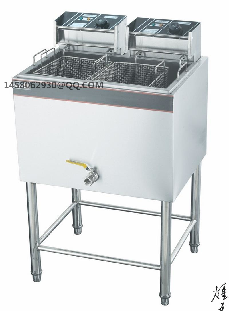 CE approved Floor Type Electric Fryer single Tanks Two  Baskets Professional stainless steel electric commercial deep fryerCE approved Floor Type Electric Fryer single Tanks Two  Baskets Professional stainless steel electric commercial deep fryer