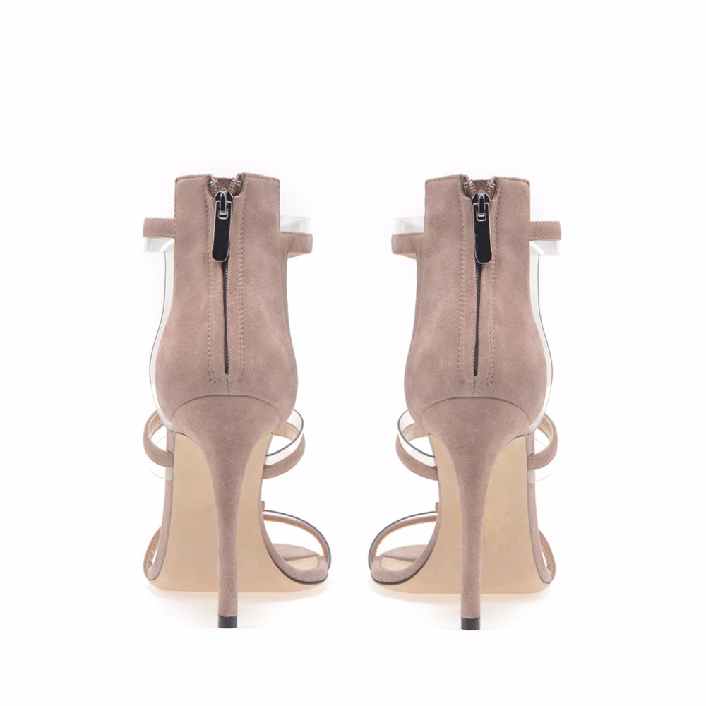 Nouveau Femme Souper Sandales Bout Nude Verni Stiletto D'été Haute Rome Transparent Pvc Fermeture Clair En Avec Mixte À Éclair Ouvert Cuir Talon rw4TrnxAq