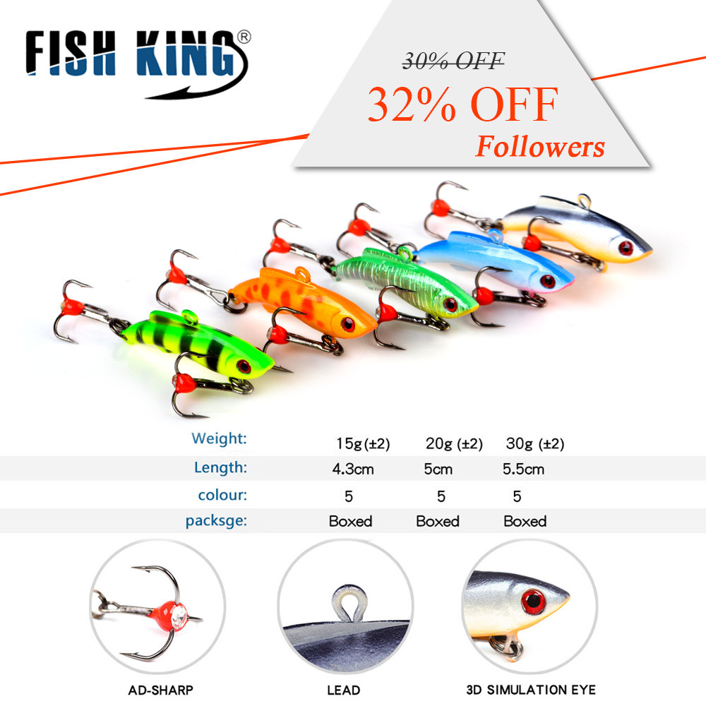 FISHKING 1PC Ice Fishing Lures Walleye Jigs Winter Bait Hard Lure Balancer for Fishing Baits Lead Jigging Fishing Tackle 30 bammax fishing lure 1 box metal iron hard bait sequins shore jigging spoon lures fishing connector pin fishing accessories pesca