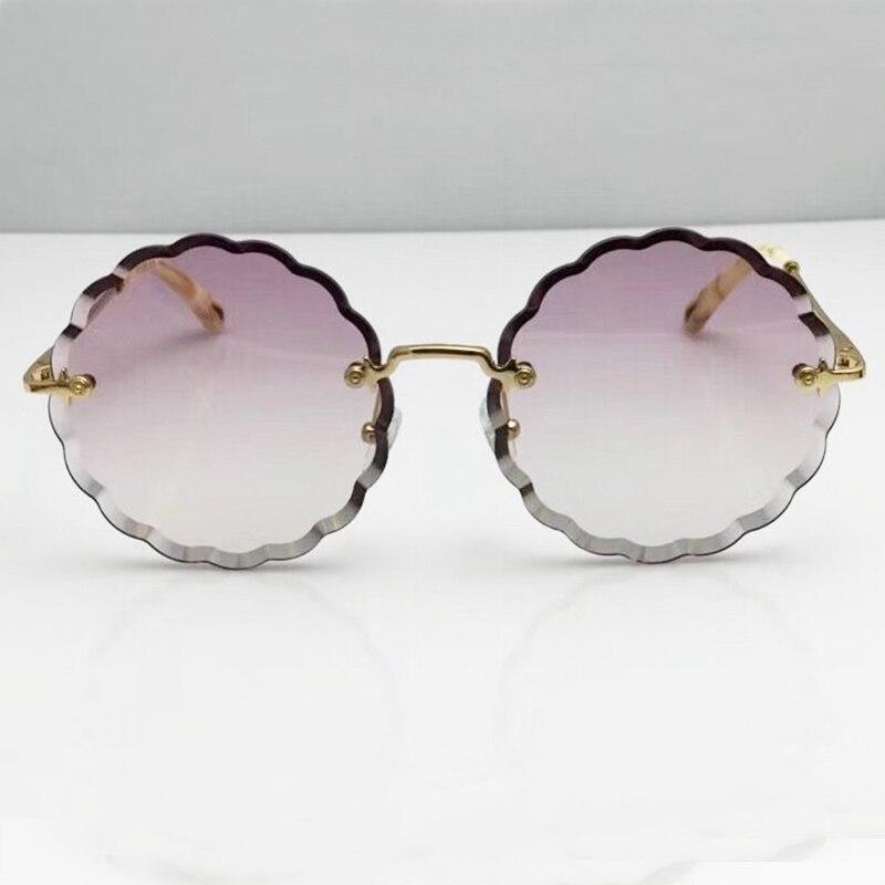 Mode Surdimensionné Femmes lunettes de Soleil 2018 Nouveau Cycle Lentille Épaisse D'origine Soleil En Verre Nom De Marque Designer De Luxe Parti Lunettes Nuances