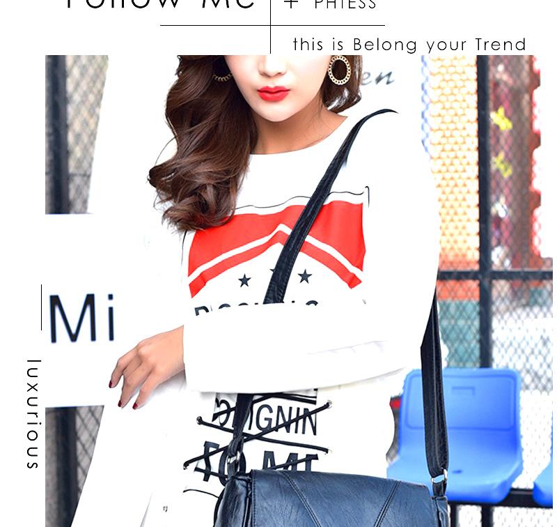 18 Women Messenger Bags Crossbody Soft Leather Shoulder Female Bag Flap Bolsa Feminina Designer Handbags High Quality Brand 10