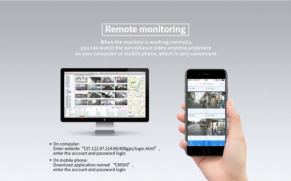 Pulsuz Göndərmə 4Pcs IR Night Vision Vehicle Camera + 4CH 4G LTE - Avtomobil elektronikası - Fotoqrafiya 4