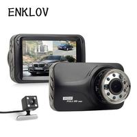 Double Recorder HD Car Dashcam With Built In G Sensor Car Camera Recorder 9 Night Vision