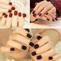 3 colores mate textura borde de metal uñas postizas parche manicura francesa acabado de uñas pegatinas