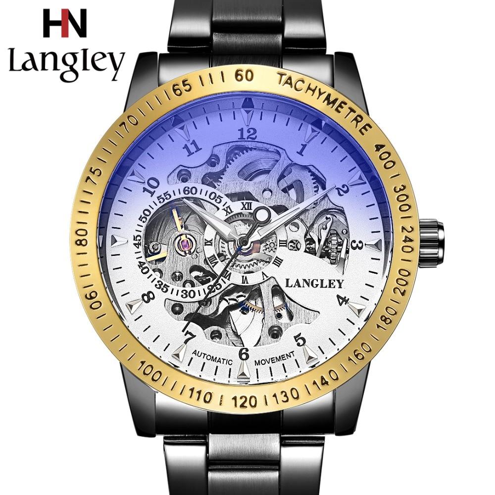 2018 Klassieke Horloges Heren Top Luxe Merk Hoge kwaliteit Skelet - Herenhorloges - Foto 3