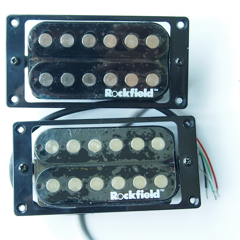 Rockfield black double coil electric guitar pickup 5 line single belcat bass pickup 5 string humbucker double coil pickup guitar parts accessories black