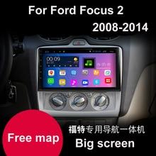 """10.1 """"gran pantalla de Cuatro Núcleos Android 4.4 DVD Del Coche para Ford Focus 2 2008 2009 2010 2011 2012 2013 2014 gps jefe unidad de coches raido"""