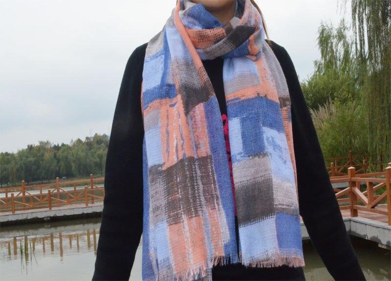 Womens ponchos 2015 cotton scarf british plaid bandana desigual shawls and scarves Muslim hijab font b