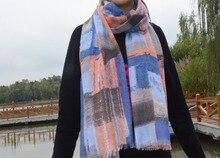 Womens ponchos 2015 cotton scarf british plaid bandana desigual shawls and scarves Muslim hijab tartan plaid
