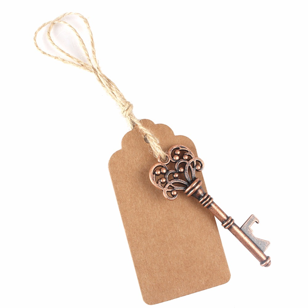 50pcs Wedding Gifts for Guests Souvenirs Skeleton Bottle Opener+Tags ...