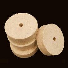ドリル研削砥石3インチ80ミリメートルバフホイールフェルトウール研磨パッド研磨ベンチグラインダーロータリーツール