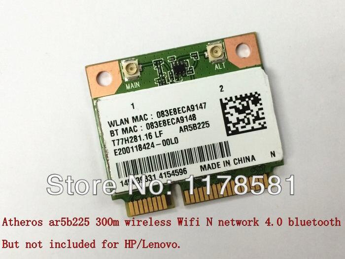 Atheros AR5B225 300m wireless Wifi network 4.0 bluetooth bt mini pcie half wlan card