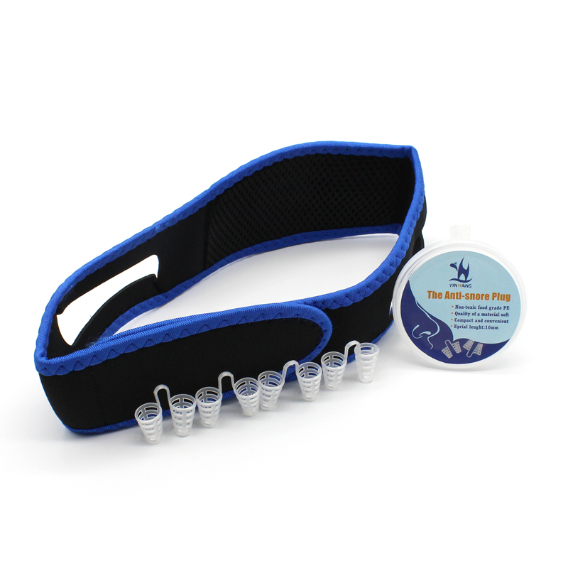 Anti Snore Solution Combination Anti-snore Nose Purifier Adjustable Stop Snoring Chin Strap Anti-Snore Sleep Stopper Vent Device