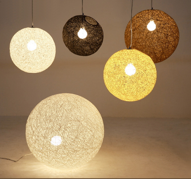 LED Creative Pendant Lights Personality Modern Star RattMoon Ball Pendant Lamp Pendant Loft/Bar/Dining Room Suspension Luminaire