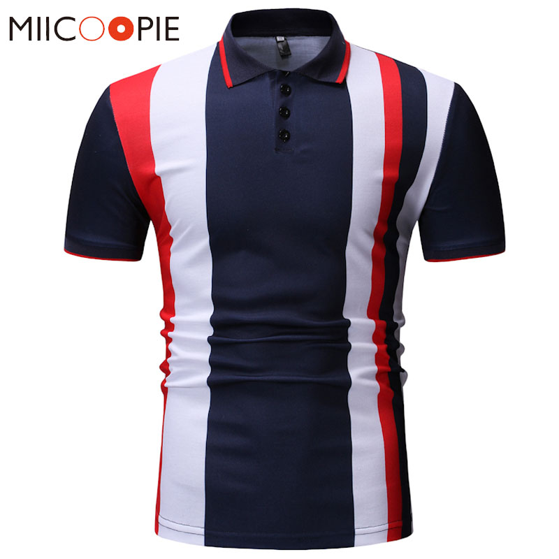New Men   Polo   Shirt Men Casual Business Patchwork Slim Fit   Polo   Shirt Short Sleeve Breathable Contrast Color   Polo   Shirt XXXL